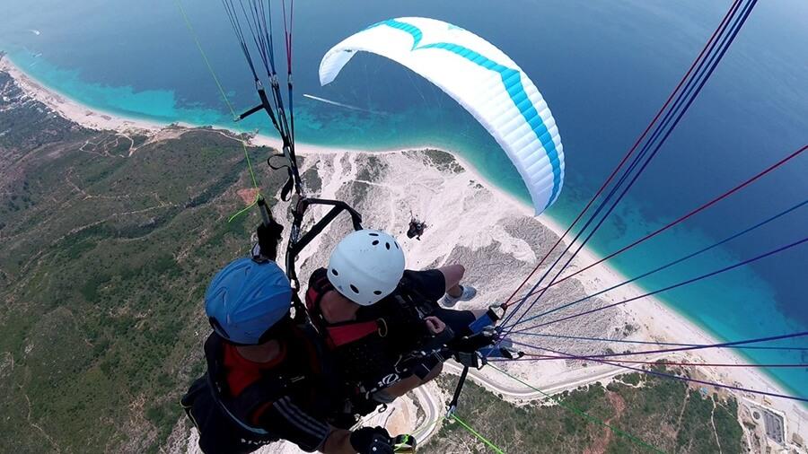 Blue sea vlore Skysports Paragliding