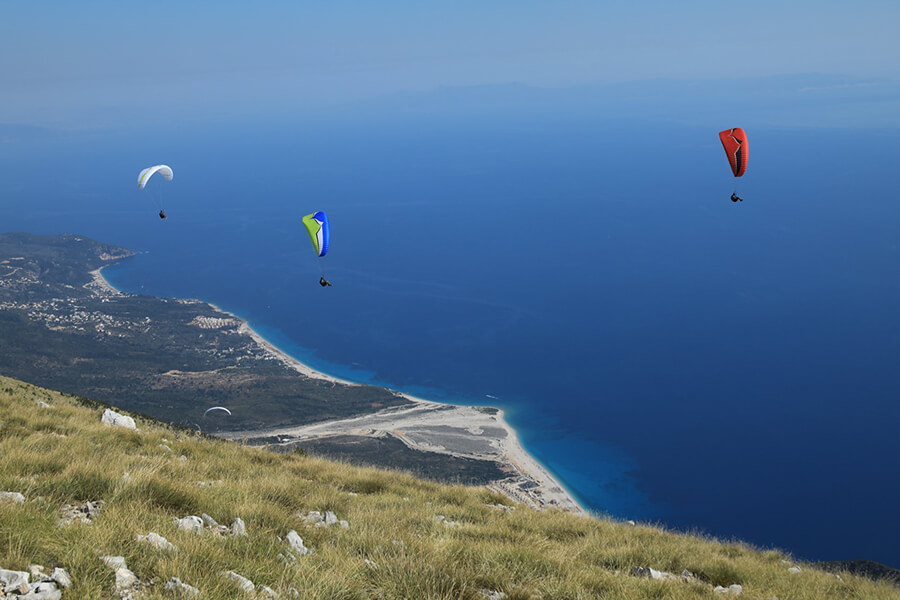Paragliding from Llogara , Skysport Paragliding